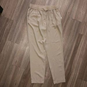 Beige zara high waisted pants